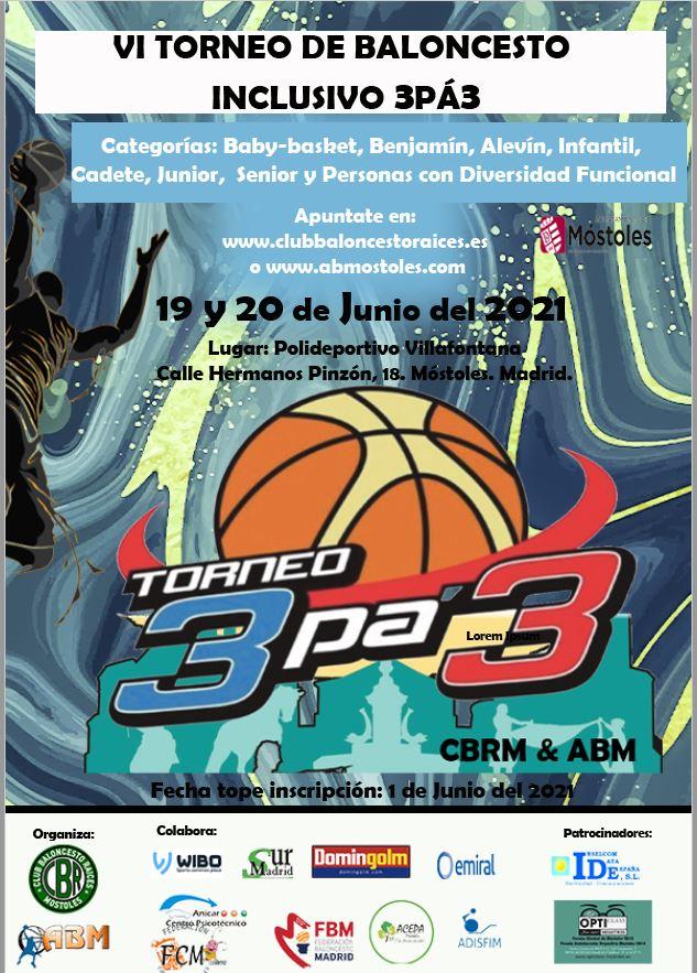 VI del Torneo de Baloncesto inclusivo 3pá3